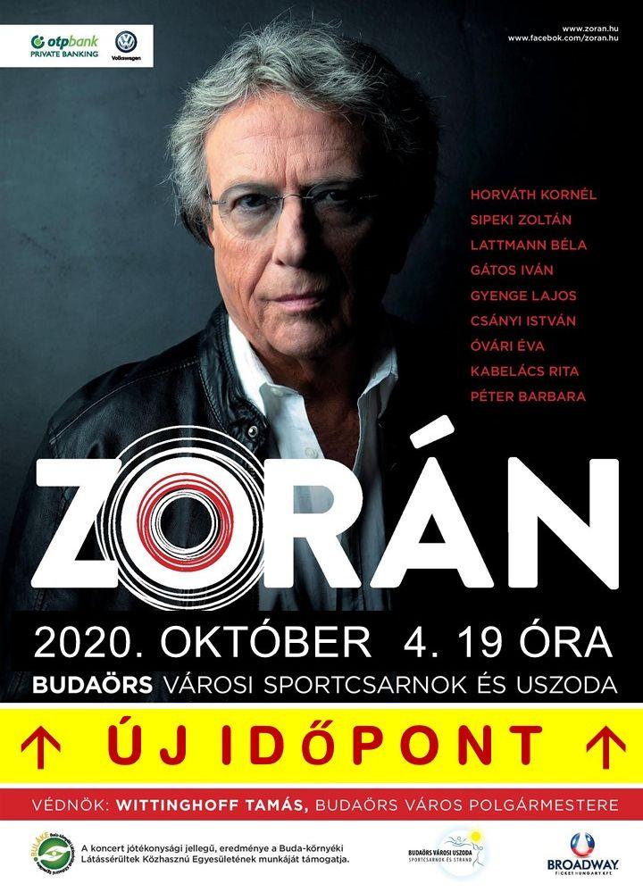 Zorán koncert ÚJ IDŐPONT